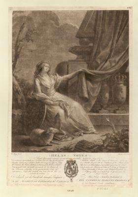 Helas voyés sunt lacrimae rerum et mentem mortalia langunt... : [estampe]