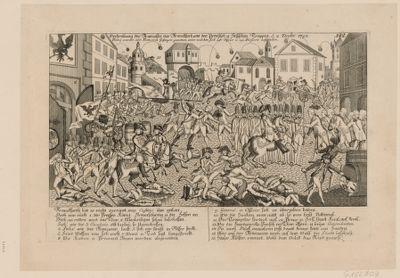 Vertreibung der Franzosen aus Franckfurt, von den Preusisch u. Hessischen Truppen d. 2. Decbr. <em>1792</em> [estampe]