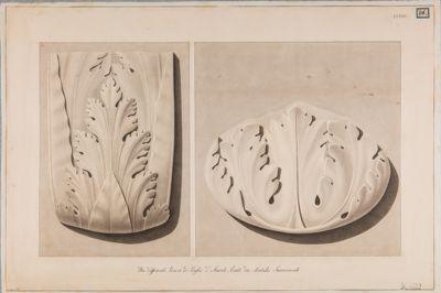 Foro Traiano, particolare della decorazione architettonica