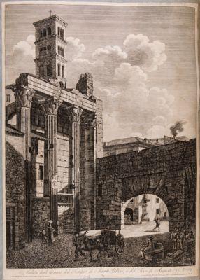 Foro di Augusto, tempio di Marte Ultore, resti verso l'arco di Pan