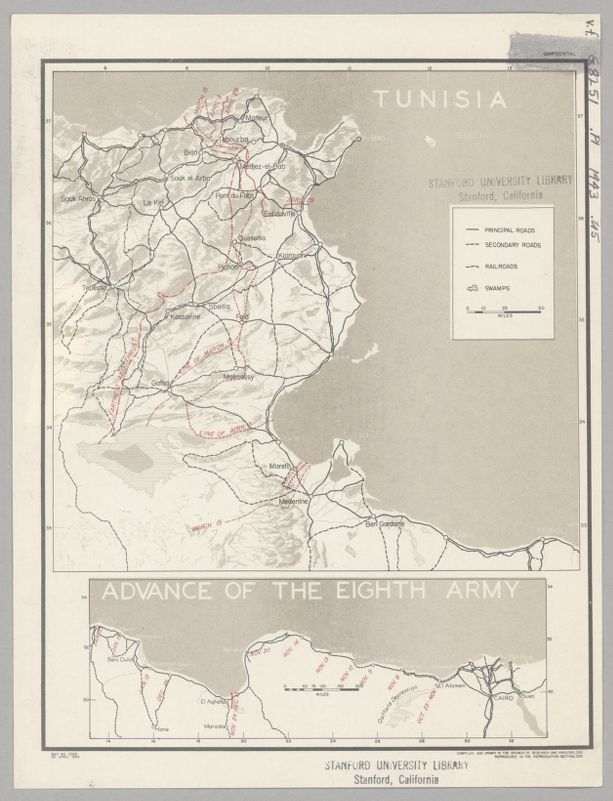 Tunisia ; Advance of the Eighth Army