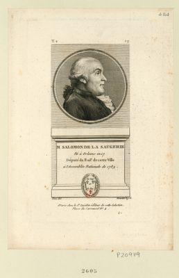 M. Salmon de la Saugerie né <em>à</em> Orléans en 17 député du bail.e de cette ville <em>à</em> l'Assemblée nationale de 1789 : [estampe]