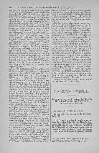 Tome 77 : Du 19 au 28 octobre 1793 - page 440