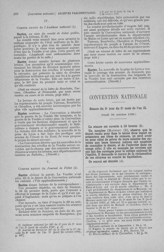 Tome 77 : Du 19 au 28 octobre 1793 - page 468