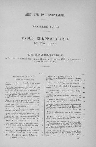 Tome 77 : Du 19 au 28 octobre 1793 - page ..