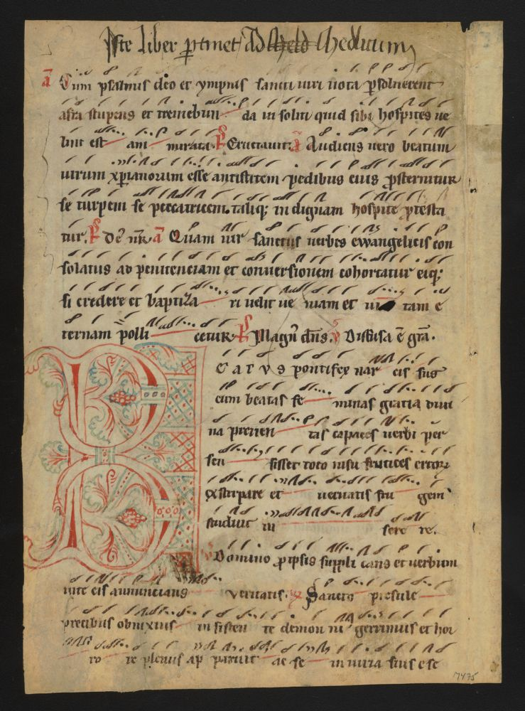 Breviary, with neumes, with texts for the Office of St. Afra : manuscript fragment