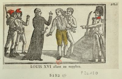 Louis XVI allant au supplice [estampe]