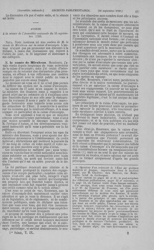 Tome 9 : Du 16 septembre au 11 novembre 1789 - page 17
