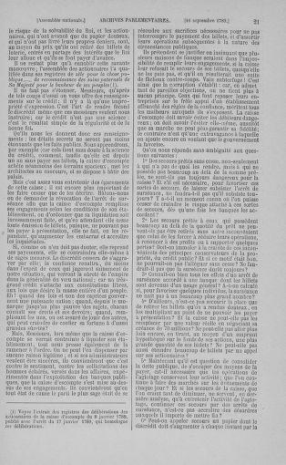 Tome 9 : Du 16 septembre au 11 novembre 1789 - page 21