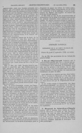 Tome 9 : Du 16 septembre au 11 novembre 1789 - page 23