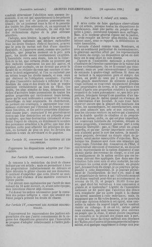 Tome 9 : Du 16 septembre au 11 novembre 1789 - page 29