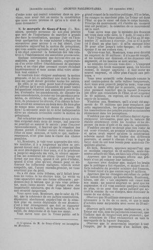 Tome 9 : Du 16 septembre au 11 novembre 1789 - page 44