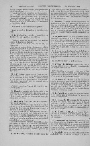 Tome 9 : Du 16 septembre au 11 novembre 1789 - page 54