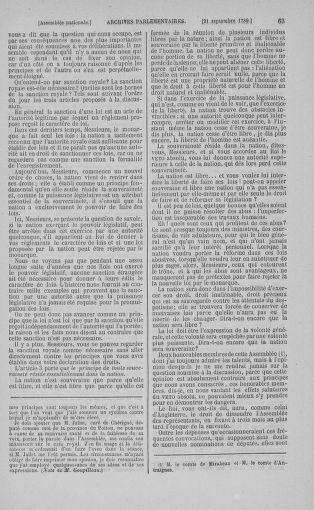Tome 9 : Du 16 septembre au 11 novembre 1789 - page 63