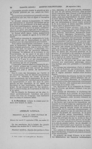 Tome 9 : Du 16 septembre au 11 novembre 1789 - page 98
