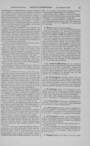 Tome 9 : Du 16 septembre au 11 novembre 1789 - page 99