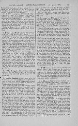 Tome 9 : Du 16 septembre au 11 novembre 1789 - page 183
