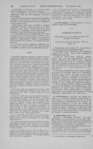 Tome 9 : Du 16 septembre au 11 novembre 1789 - page 186