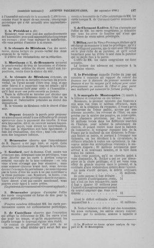 Tome 9 : Du 16 septembre au 11 novembre 1789 - page 187