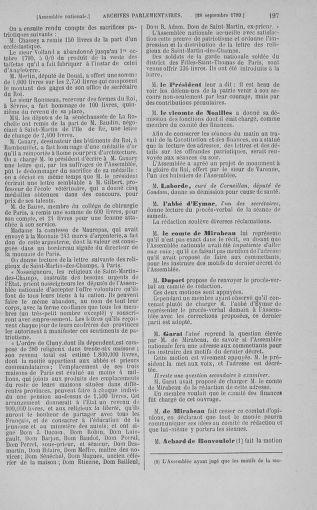 Tome 9 : Du 16 septembre au 11 novembre 1789 - page 197