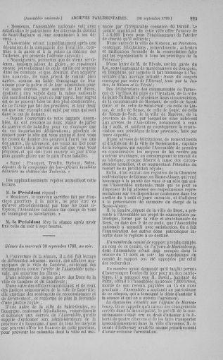 Tome 9 : Du 16 septembre au 11 novembre 1789 - page 223