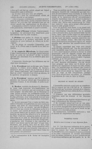 Tome 9 : Du 16 septembre au 11 novembre 1789 - page 228
