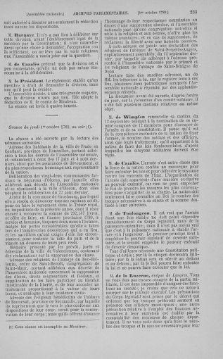 Tome 9 : Du 16 septembre au 11 novembre 1789 - page 233
