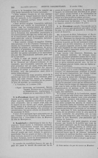 Tome 9 : Du 16 septembre au 11 novembre 1789 - page 240