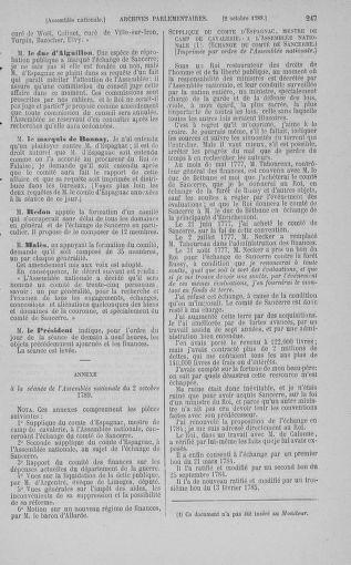 Tome 9 : Du 16 septembre au 11 novembre 1789 - page 247