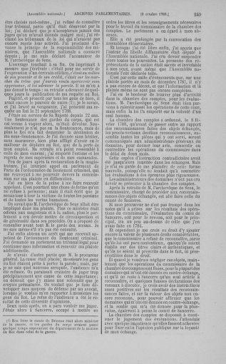 Tome 9 : Du 16 septembre au 11 novembre 1789 - page 249