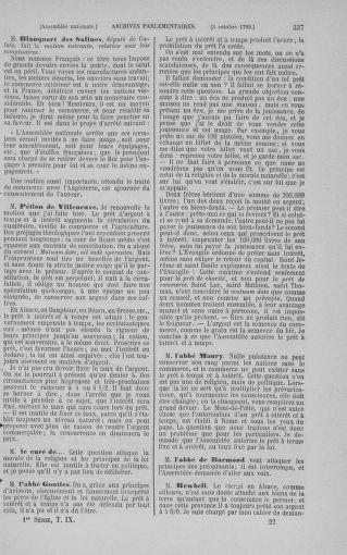 Tome 9 : Du 16 septembre au 11 novembre 1789 - page 337