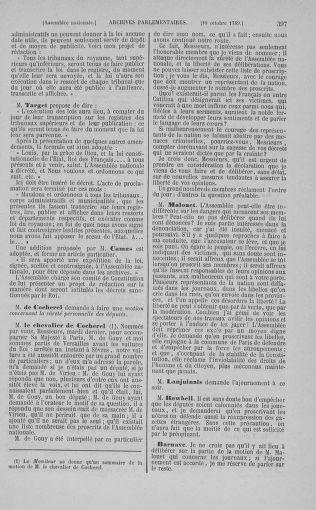 Tome 9 : Du 16 septembre au 11 novembre 1789 - page 397