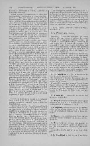 Tome 9 : Du 16 septembre au 11 novembre 1789 - page 406