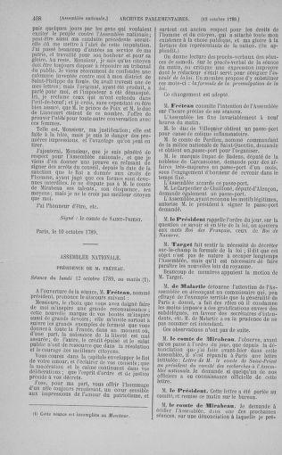 Tome 9 : Du 16 septembre au 11 novembre 1789 - page 408