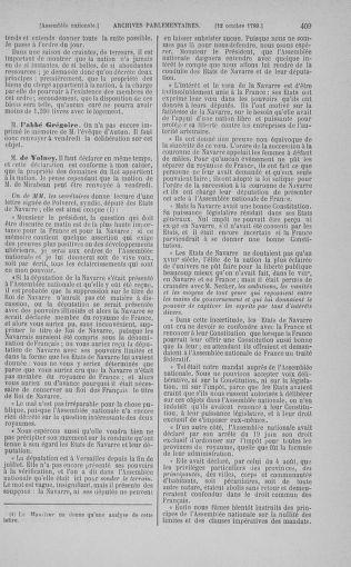 Tome 9 : Du 16 septembre au 11 novembre 1789 - page 409