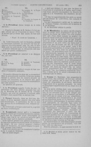 Tome 9 : Du 16 septembre au 11 novembre 1789 - page 415