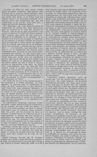 Tome 9 : Du 16 septembre au 11 novembre 1789 - page 425