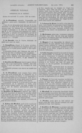 Tome 9 : Du 16 septembre au 11 novembre 1789 - page 441