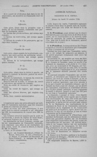 Tome 9 : Du 16 septembre au 11 novembre 1789 - page 457