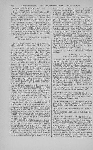 Tome 9 : Du 16 septembre au 11 novembre 1789 - page 458