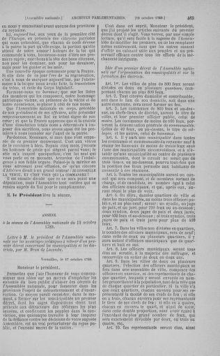 Tome 9 : Du 16 septembre au 11 novembre 1789 - page 463