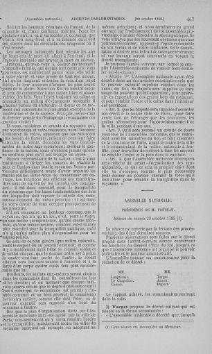 Tome 9 : Du 16 septembre au 11 novembre 1789 - page 467