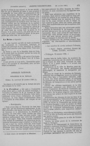 Tome 9 : Du 16 septembre au 11 novembre 1789 - page 471