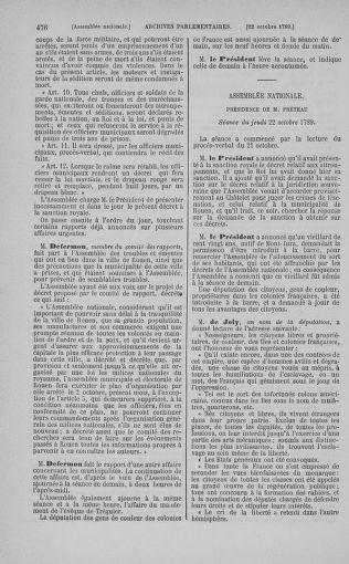 Tome 9 : Du 16 septembre au 11 novembre 1789 - page 476
