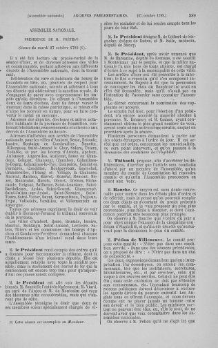 Tome 9 : Du 16 septembre au 11 novembre 1789 - page 589