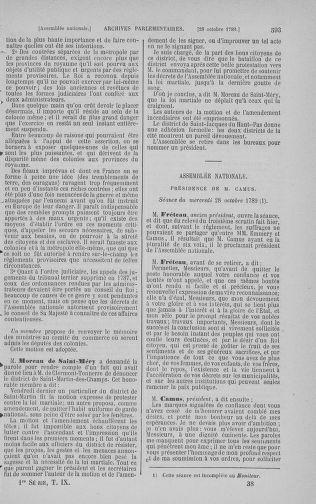 Tome 9 : Du 16 septembre au 11 novembre 1789 - page 593