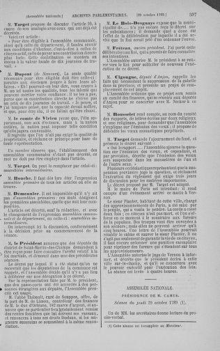 Tome 9 : Du 16 septembre au 11 novembre 1789 - page 597
