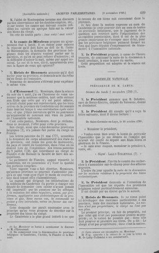 Tome 9 : Du 16 septembre au 11 novembre 1789 - page 629
