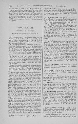 Tome 9 : Du 16 septembre au 11 novembre 1789 - page 670