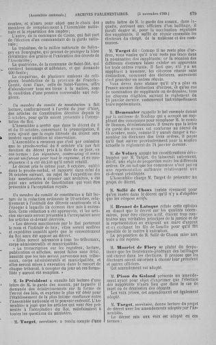 Tome 9 : Du 16 septembre au 11 novembre 1789 - page 679